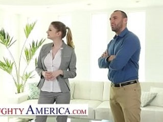 Naughty America Bunny Colby knows how to sell a house by fucking the customer