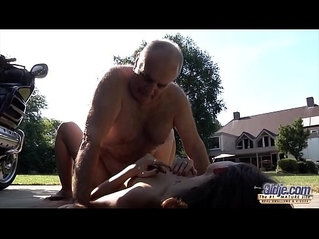 Grandpa fucks her young pussy so tight and wet ready for cum