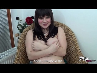 Fat super horny babe fuck stranger extremely hard to cum on her ass