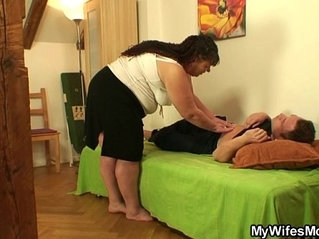 She leaves and plump mother in law fucks him