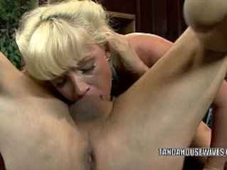 Blonde housewife Heidi Mayne gets her pussy nailed by a stranger