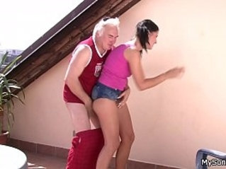 Czech brunette takes big dick from behind