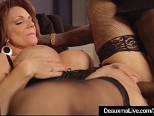 Hot Mature Cougar Gets her ass Drilled By A Big Black Cock!