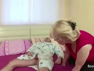 Milf Mother Seduce Young Step Son to Fuck her with Blowjob