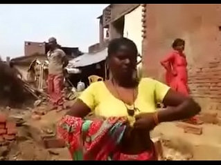 Angry Aunty Boobs to Intruder
