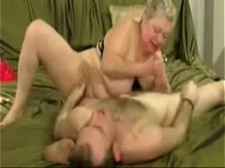 Horny grandma loves to jerk younger cock. amateur