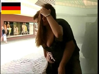 German amateur Teen couple fucks in the public