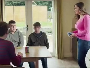 Mom Shows Of Her New Push Up Bra To Her Sons Friends