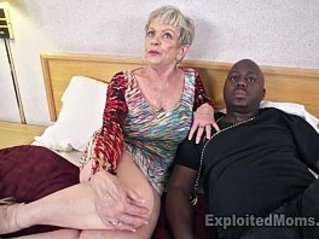 Mature Grandma with Big Tits lets a Black Cock Inside her Creampie Video
