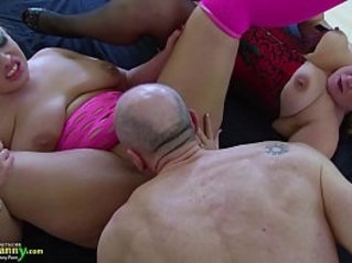 OldNannY Horny Lacey Starr got hardcore group sex
