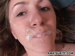 Amateur ex girlfriend anal with huge cum in mouth
