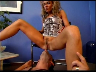 Lovely mistress gets pussy licked