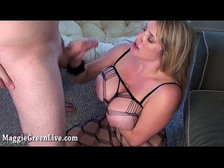 All Natural Babe Maggie Green Gets Fucked Hard in Body Stocking!
