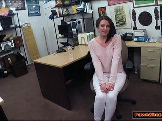 Lady wants the pawnshop owners big cock and gets facefucked