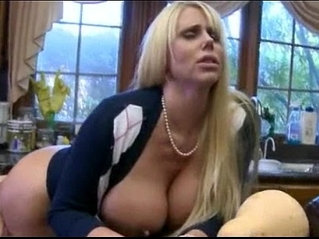 Molly Bennett caught her BF sucking off by a big tits MILF