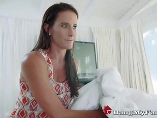 Loving stepmother sofie marie blows and bangs her sick son to cheer him up