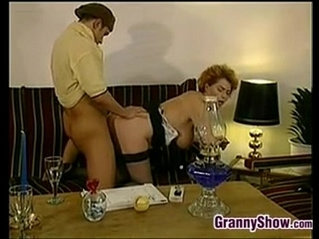 Horny Granny Getting Pounded