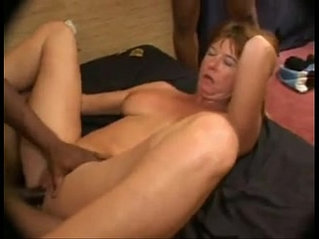 This 50 year old hot milf sexy heels gets pounded and creampied by many BBCs