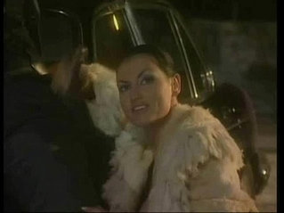 Laura Angel Fucked Over A Car In A Fur Coat