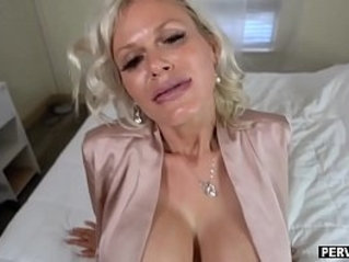 Gigantic boobs granny loves a fuck by her stepson