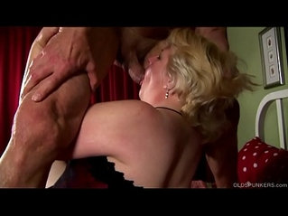 Supe cute chubby old spunker loves fucking facial cumshots